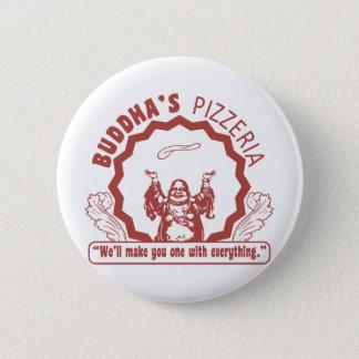 Buddha's Pizzeria 6 Cm Round Badge