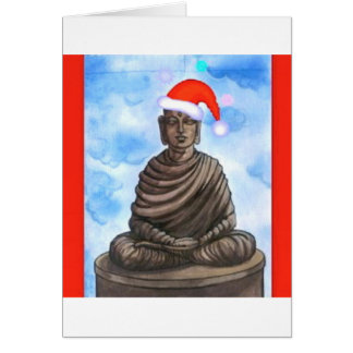 Buddhism - Buddha - Merry Christmas Hat Card