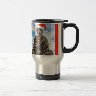 Buddhism - Buddha - Merry Christmas Hat Travel Mug