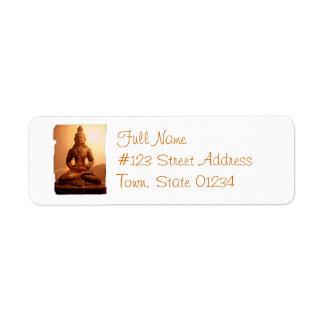 Buddhism Mailing Label Return Address Label