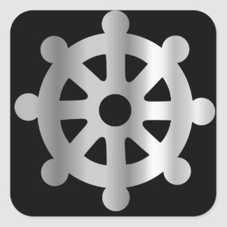 buddhism wheel of dharma.jpg square sticker