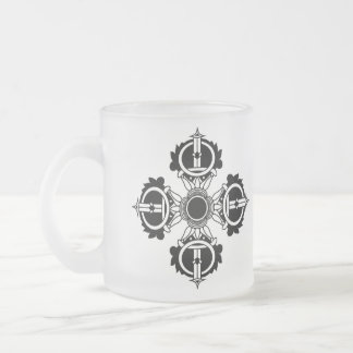 Buddhist Design Icon meditation series Frosted Glass Coffee Mug
