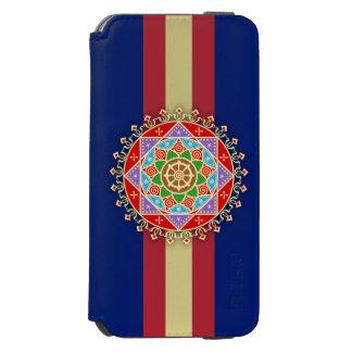 Buddhist Dharma Wheel Mandala Incipio Watson™ iPhone 6 Wallet Case
