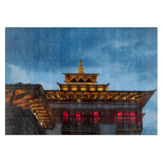 Buddhist Dzong Roof Cutting Board