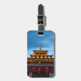 Buddhist Dzong Roof Luggage Tag