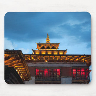 Buddhist Dzong Roof Mouse Pad