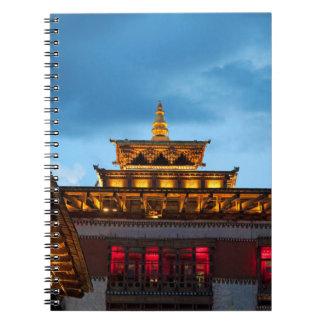 Buddhist Dzong Roof Spiral Notebook