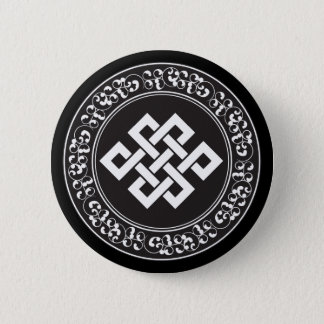 Buddhist Endless Knot 6 Cm Round Badge