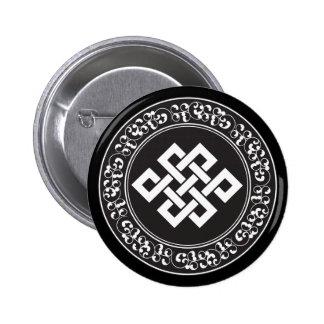 Buddhist Endless Knot 6 Cm Round Badge
