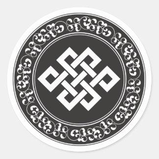 Buddhist Endless Knot Round Sticker