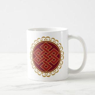 Buddhist Endless or Eternal Knot Pattern Coffee Mug