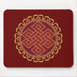 Buddhist Endless or Eternal Knot Pattern Mouse Pad