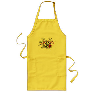 Buddhist Floral Om Long Apron