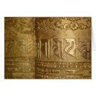 Buddhist Gold Prayer Wheel Photo Card