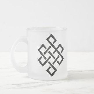Buddhist Mandala Icon meditation series Frosted Glass Coffee Mug
