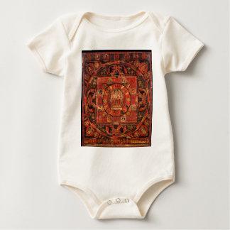 Buddhist Mandala of Compassion Baby Bodysuit