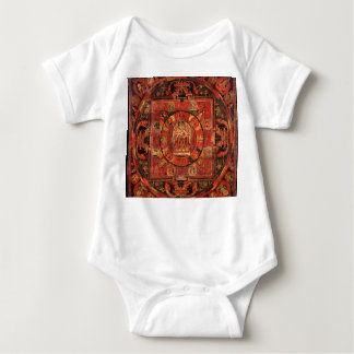 Buddhist Mandala of Compassion Baby Bodysuit