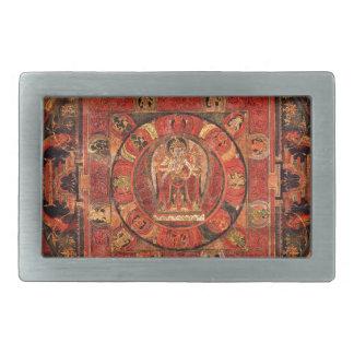 Buddhist Mandala of Compassion Belt Buckles