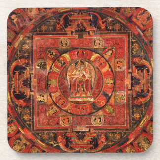 Buddhist Mandala of Compassion Coaster