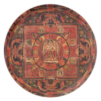 Buddhist Mandala of Compassion Plate