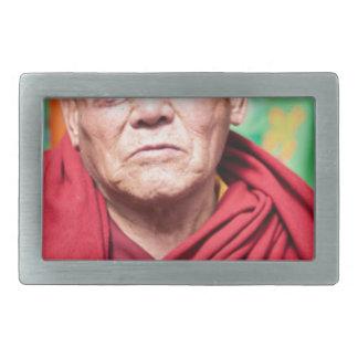Buddhist Monk in Red Robe Belt Buckles