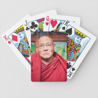 Buddhist Monk in Red Robe Bicycle Playing Cards
