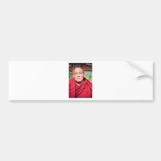 Buddhist Monk in Red Robe Bumper Sticker