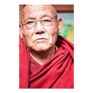 Buddhist Monk in Red Robe Stationery