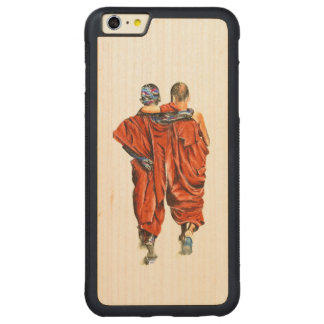 Buddhist monks carved maple iPhone 6 plus bumper case