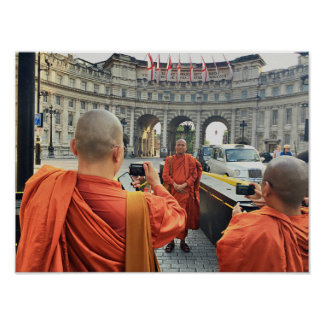 Buddhist monks in London Poster