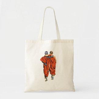 Buddhist monks tote bag