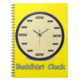 Buddhist Now Clock Notebook
