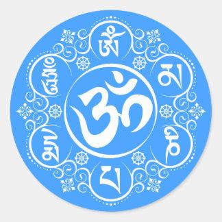 Buddhist Om Mani Padme Hum Mantra Stickers