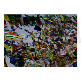 Buddhist Prayer Flags in the Breeze Card