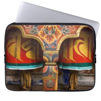 Buddhist praying role, bhutan laptop sleeve
