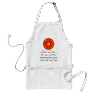 Buddhist Quote with vibrant spiritual design Adult Apron