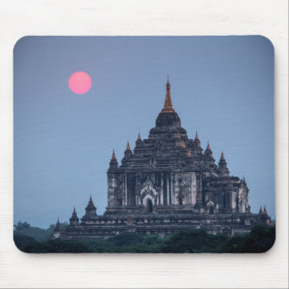 Buddhist Temple At Sunset Mouse Pad