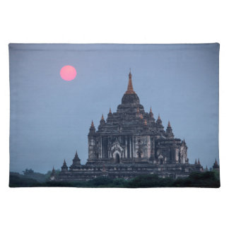 Buddhist Temple At Sunset Placemat