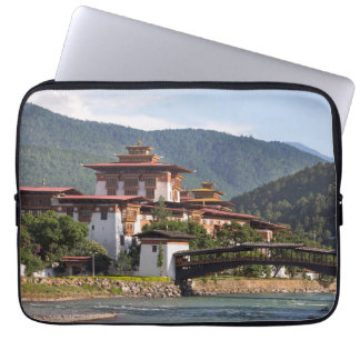 Buddhist Temple By River Laptop Sleeve