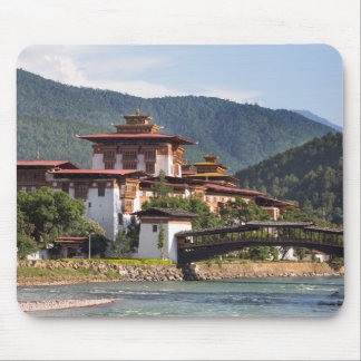 Buddhist Temple By River Mouse Pad