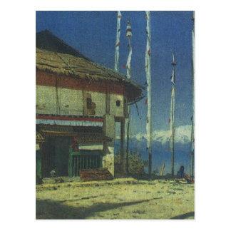 Buddhist temple in Darjeeling. Sikkim by Vasily Ve Postcard