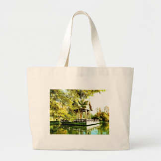 BUDDHIST TEMPLE LARGE TOTE BAG
