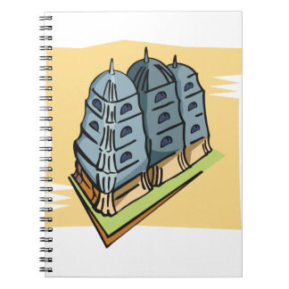 Buddhist Temple Spiral Notebook