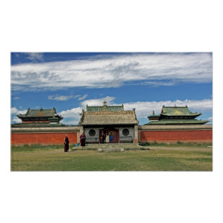 Buddhist temples at Erdene Zuu, Monglia Poster