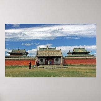 Buddhist temples at Erdene Zuu, Monglia Poster