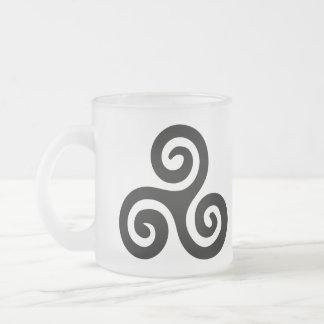 Buddhist Triskelion Icon Meditation series Frosted Glass Coffee Mug