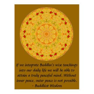 Buddhist Wisdom SAYING -  teaching Postcard