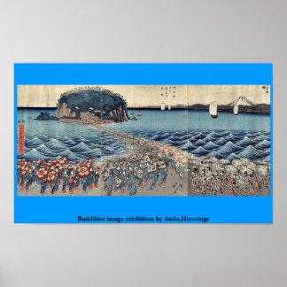 Buddihist image exhibition by Ando,Hiroshige Poster
