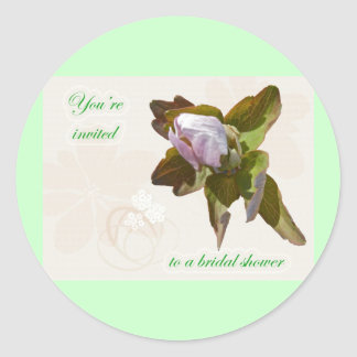 Budding Anemone Bridal Shower Sticker