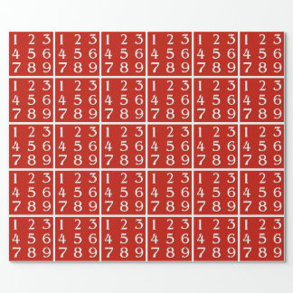 Budding Math Genius Wrapping Paper